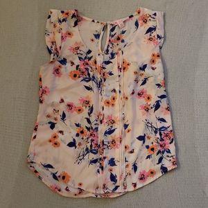 Light pink floral blouse